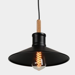 Timber Metal Shade Pendant Light