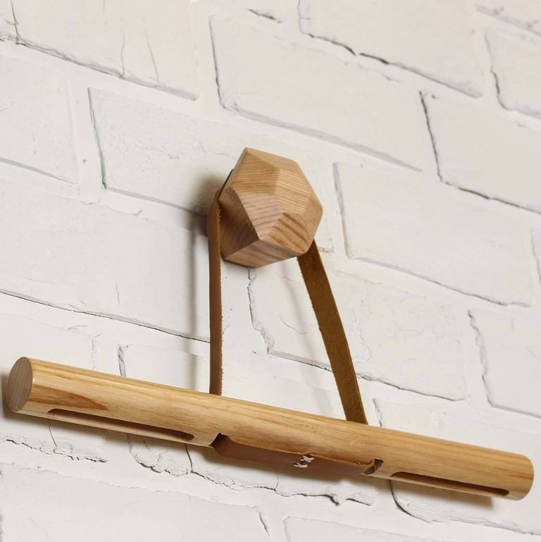 Timber Leather Hanger