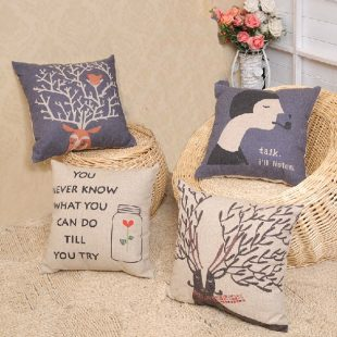Vintage Lady Cushion Cover
