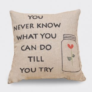 Vintage Try Cushion Cover