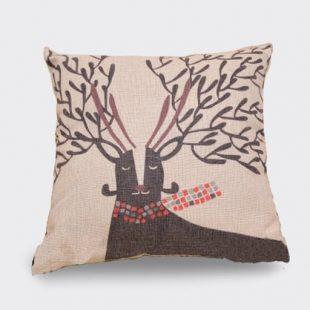 Vintage Deer Cushion Cover