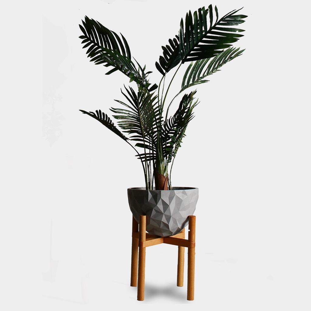 Geometric Concrete Plant Stand