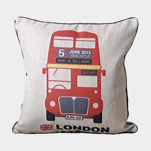 London Bus Cushion Cover