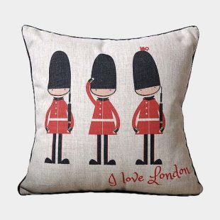 London Soldier Cushion Cover