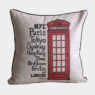 London Telephone Cushion Cover