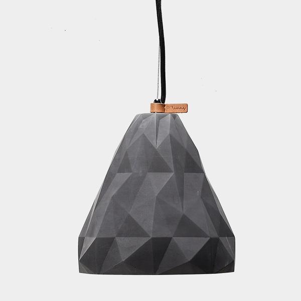 Triangular Geometric Concrete Pendant Light