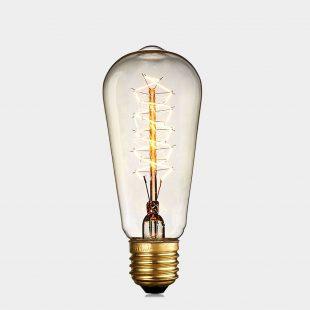 ST64 40W E27 Edison Spiral Bulb