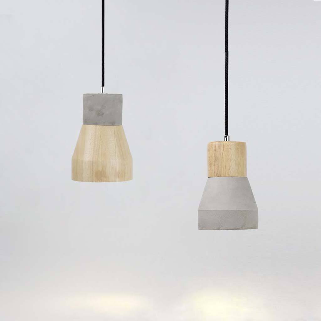 Timber Shade Concrete Pendant Light