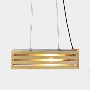 Rectangular Concrete Timber Pendant Light